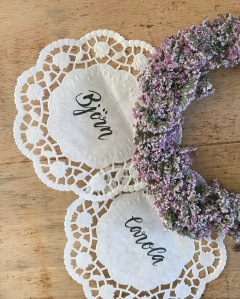 DIY Wedding Name tag