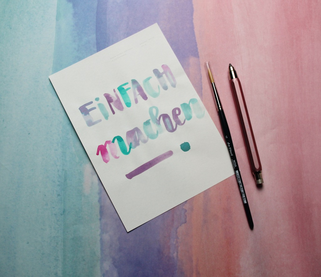Aquarell Handlettering modern calligraphy